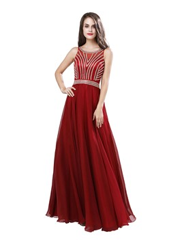 Ericdress Scoop A-Line Sleeveless Prom Dress 2019