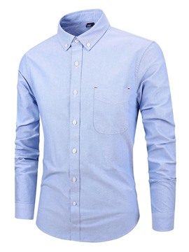 Ericdress Plain OL Pocket Loose Mens Shirt