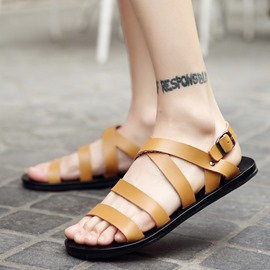 Ericdress Plain Buckle Open Toe Men's Sandals