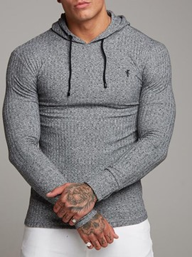 Ericdress Plain Pullover Casual Men's Slim Hoodies