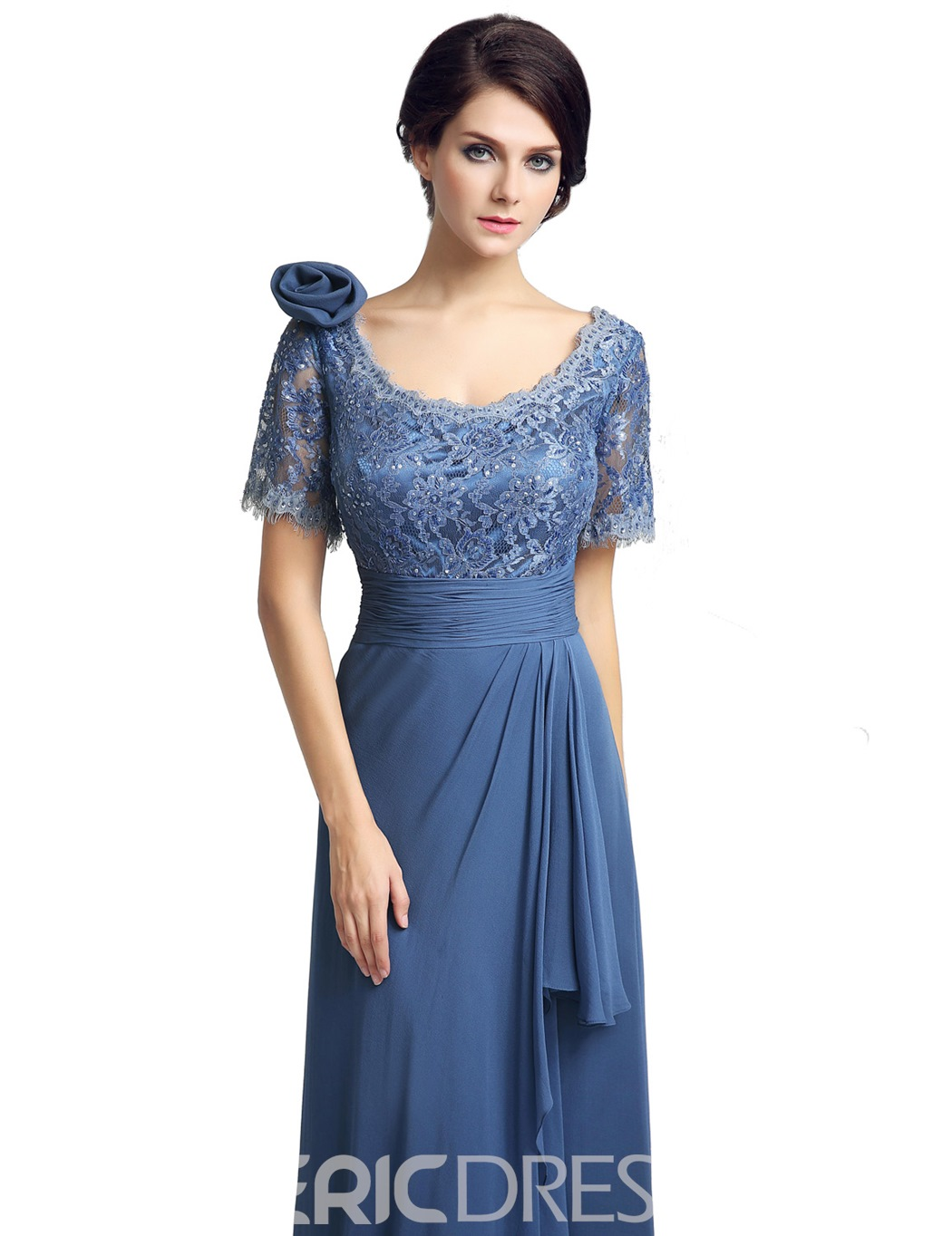 Ericdress Short Sleeves Column Lace Mother of the Bride Dress 2019
