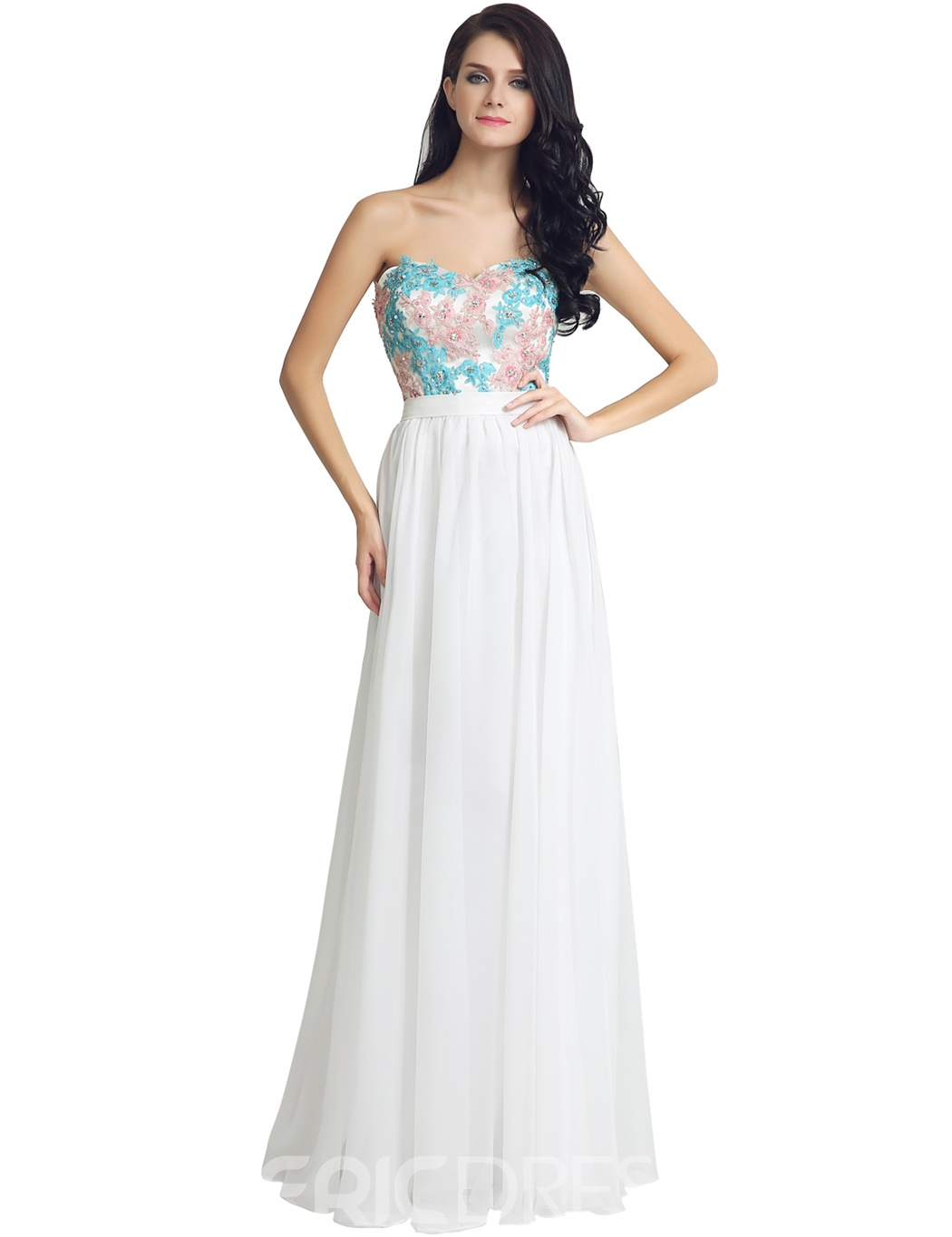 Ericdress Sweetheart A-Line Beading Floor-Length Prom Dress