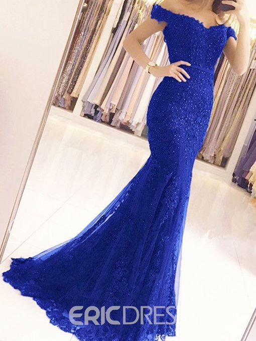 Ericdress Lace Mermaid Off the Shoulder Evening Dress