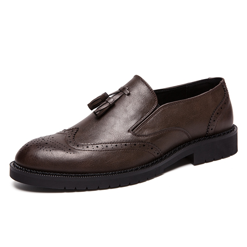 Ericdress PU Round Toe Slip-On Men's Dress Shoes