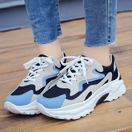 Ericdress Color Block Round Toe Lace-Up Sneakers For Women