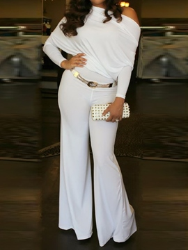 Ericdress Full Length Plain Date Night Bellbottoms Slim Jumpsuit(Without Waistband)