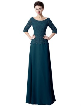 Lace Half Sleeves A-Line Mother Of The Bride Dress 2019