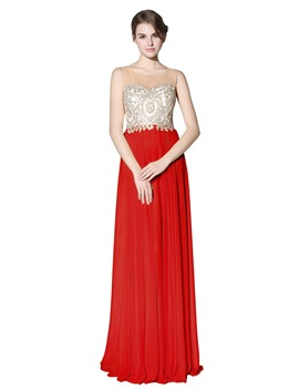 a-line bodenlangen ärmelloses scoop prom dress