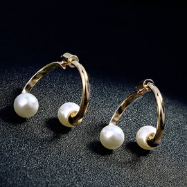 Ericdress Pearl Alloy Earrings