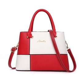 Ericdress PU Color Block Patchwork Handbag