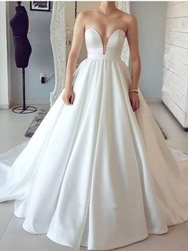Ericdress Simple Sweetheart A-Line Wedding Dress 2019
