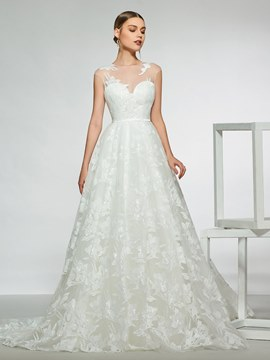 Ericdress Sequins Lace Wedding Dress