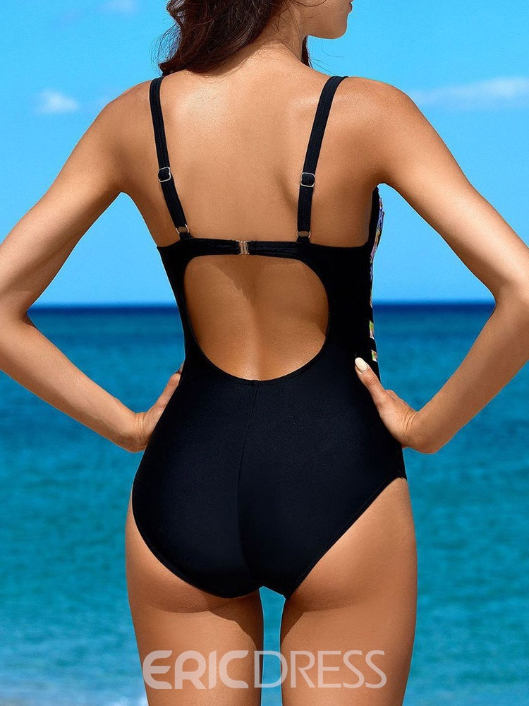 Ericdress Beach Look Print One Piece Swimwear