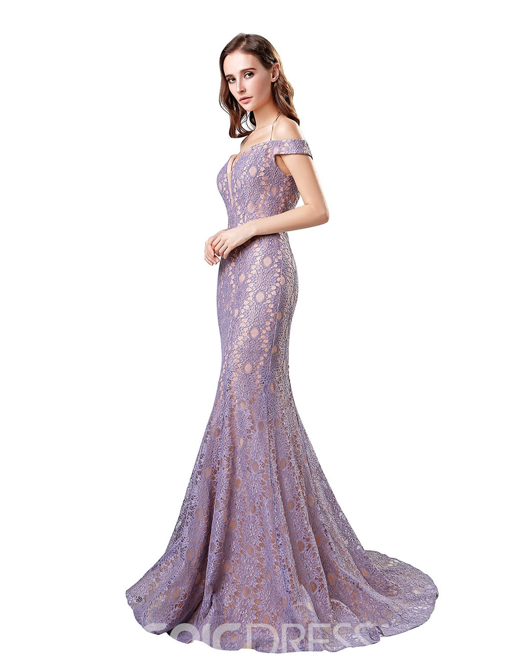 Ericdress Off The Shoulder Lace Mermaid Evening Dress