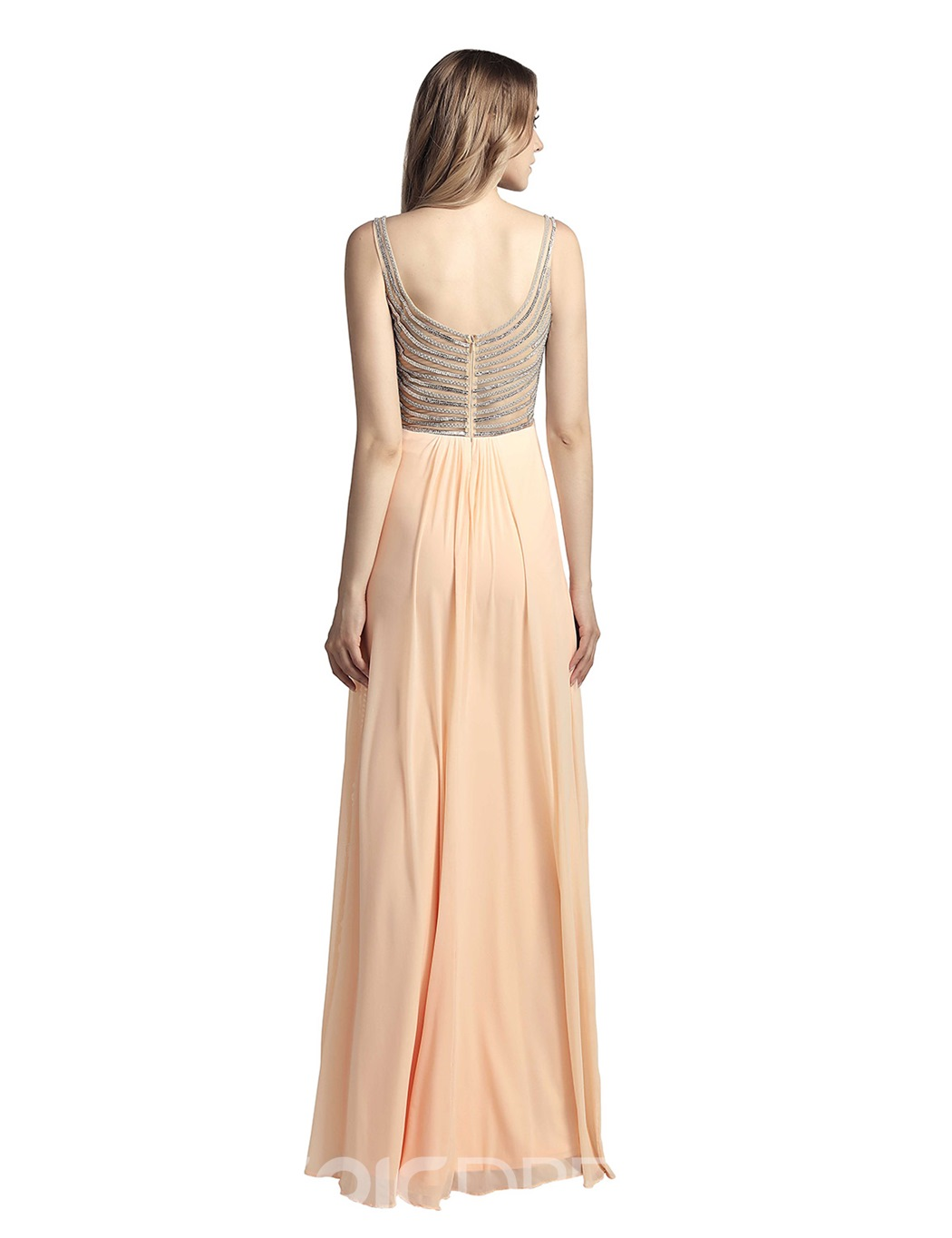 Ericdress Beading Sheath Spaghetti Straps Prom Dress