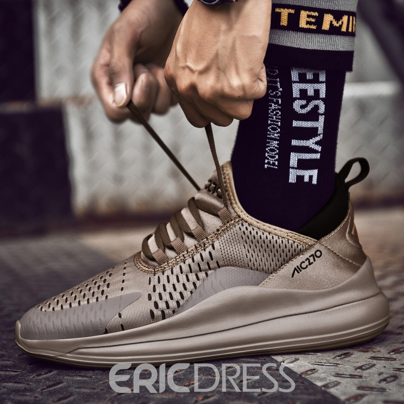 Ericdress Mesh Lace-Up Men's Running Shoes