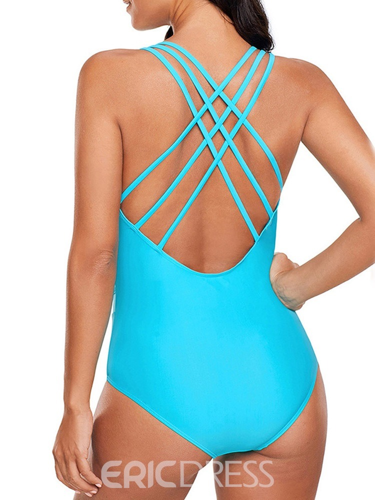 Ericdress One Piece Plain Sexy Swimwear