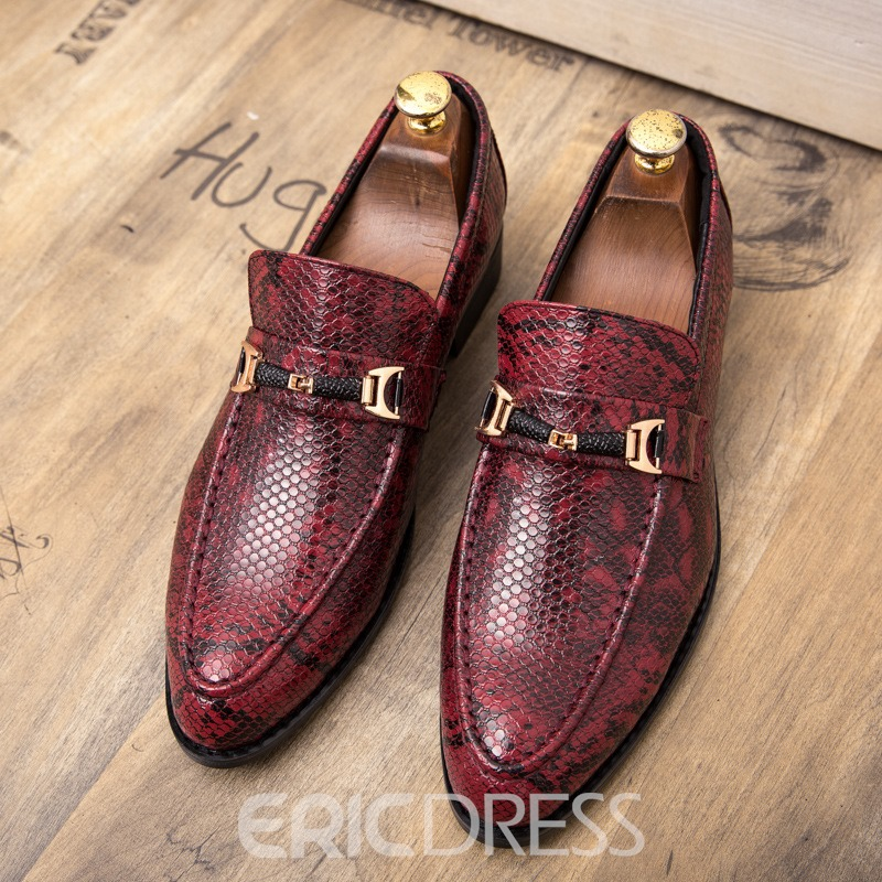 Ericdress PU Serpentine Round Toe Men's Shoes