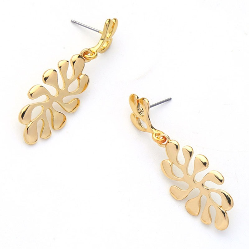 Ericdress Leaves Alloy Earrings