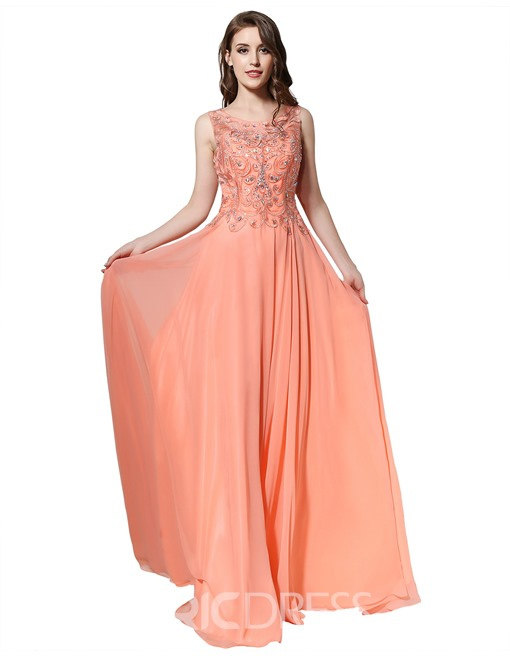 Ericdress A-Line Floor-Length Evening Dress 2019