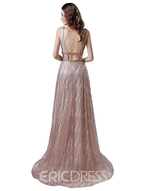 Ericdress Sashes Sleeveless A-Line Prom Dress