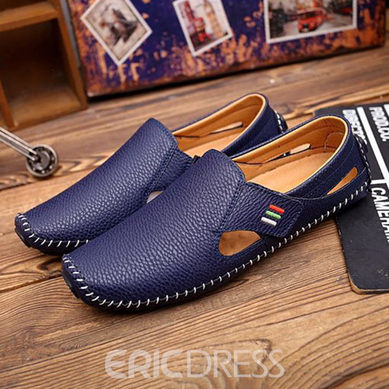 Ericdress PU Velcro Round Toe Men's Casual Shoes
