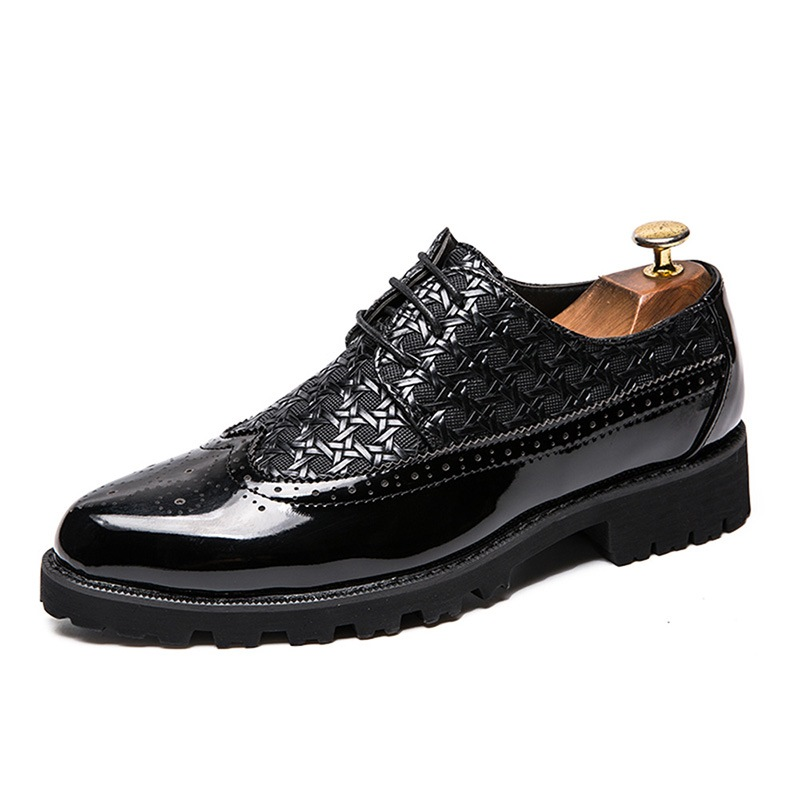 Ericdress PU Patchwork Round Toe Men's Shoes