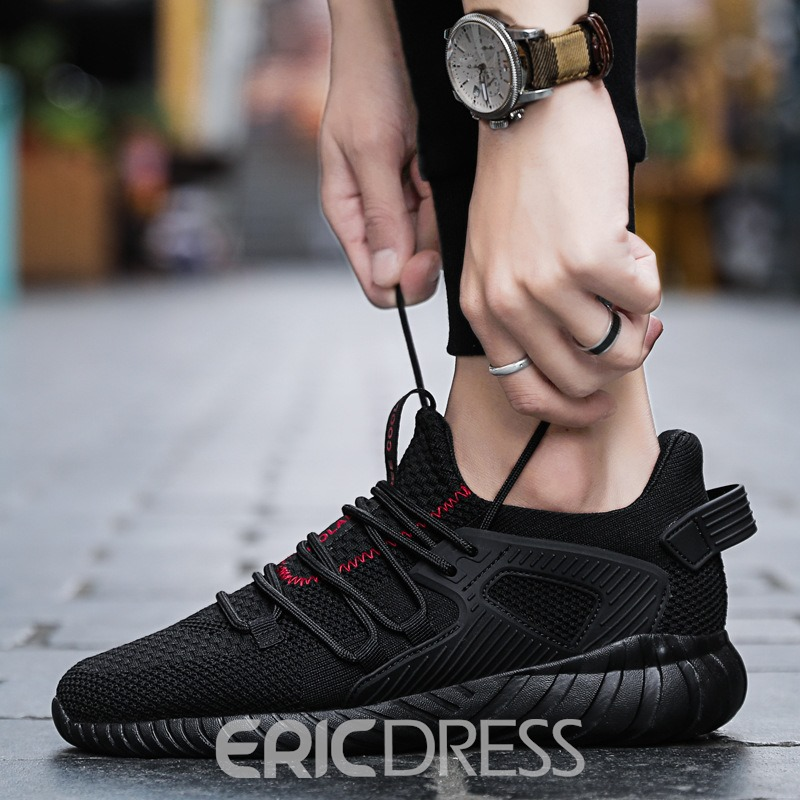 Ericdress Mesh Round Toe Lace-Up Men's Casual Sneakers