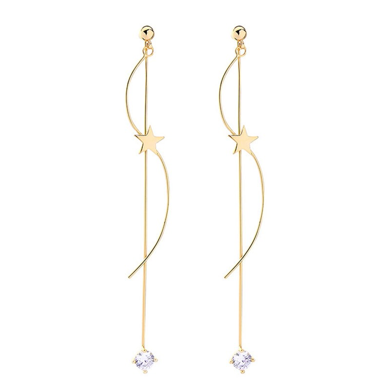 Ericdress Diamante Star Earrings