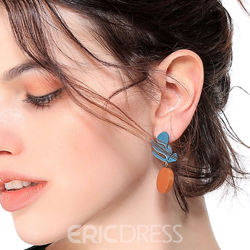 Ericdress Chic Wood Holiday Earrings