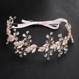 Plaid European Rhinestone Wedding Hairband