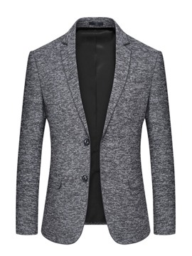 Ericdress Plain Two Button Notched Lapel Mens Slim Blazer