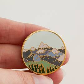 Ericdress Mountain Printing Brooches
