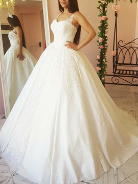 Ericdress Straps Lace Ball Gown Wedding Dress