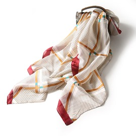 Ericdress Patchwork Charmeuse Plaid Scarf