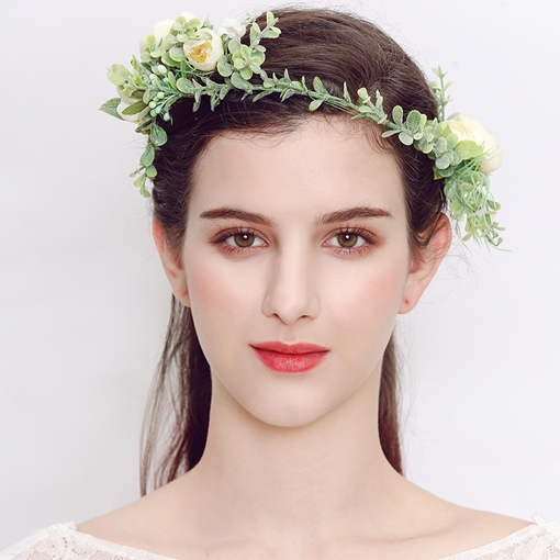 Ericdress Artificial Flowers Leaves Wedding Wreath
