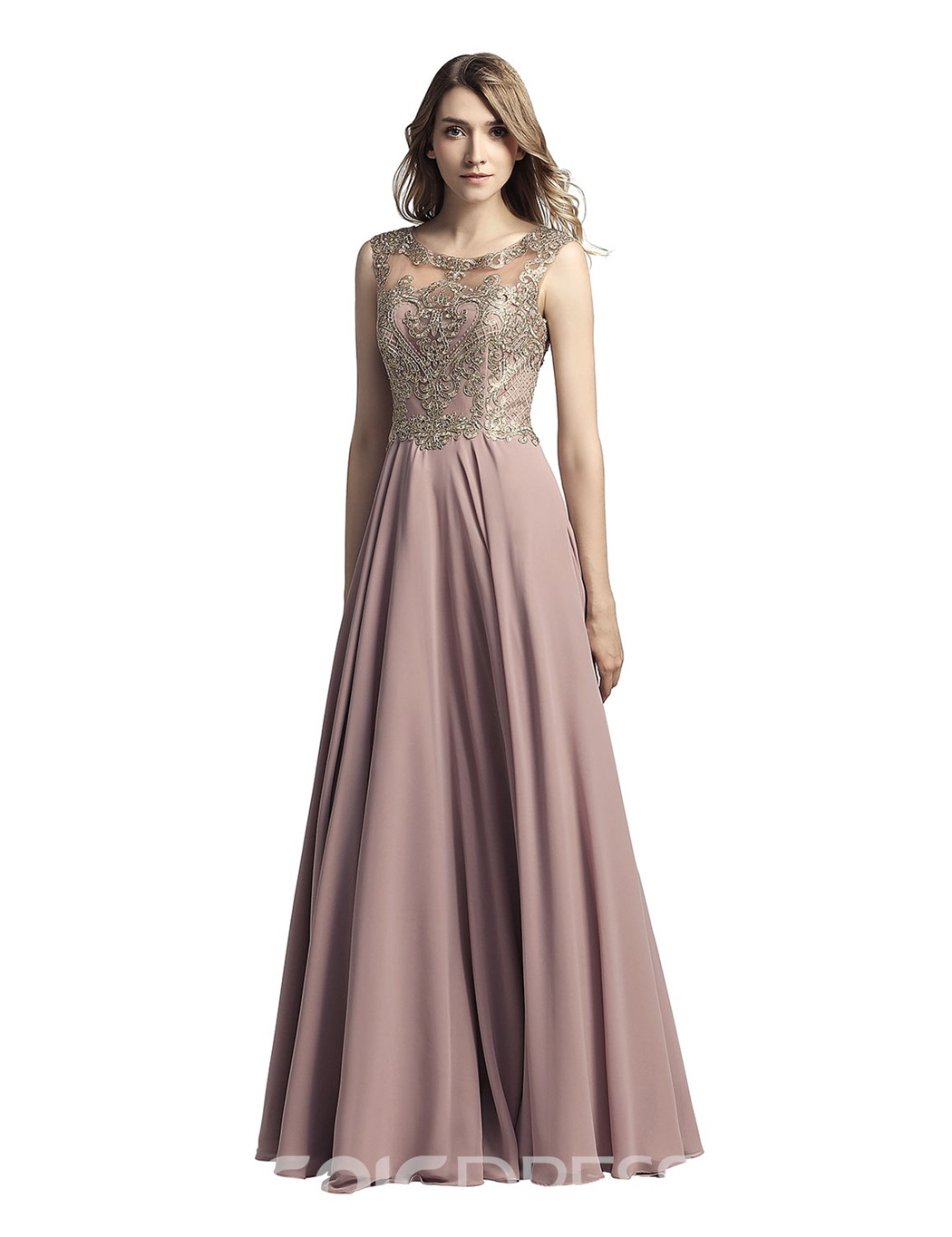 Ericdress Beading Sleeveless A-Line Prom Dress