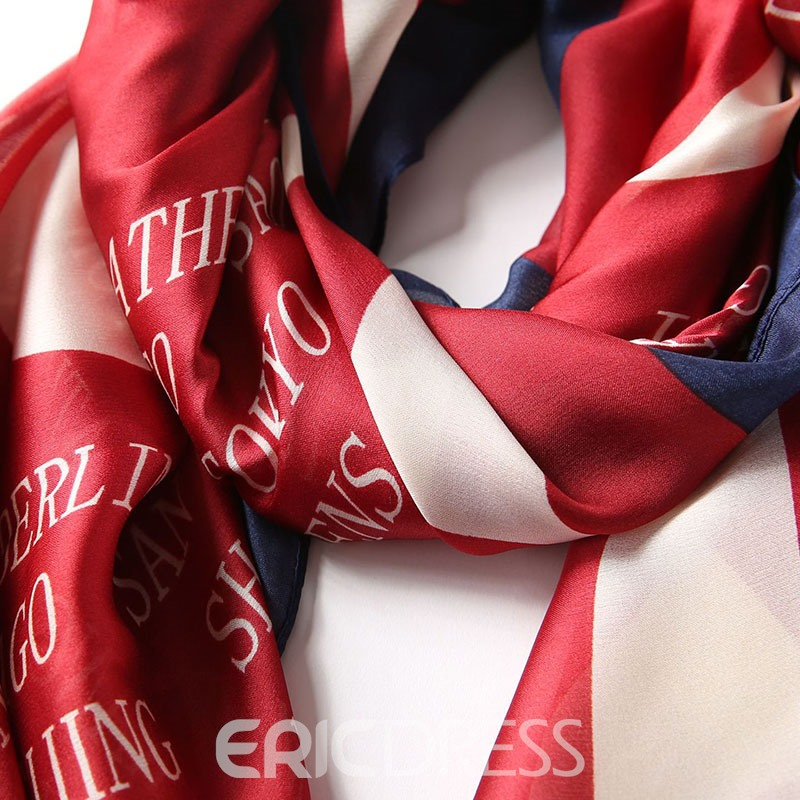 Ericdress Scarf Polyester Letter Scarf