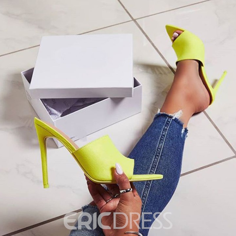 Ericdress Faux Suede Stiletto Heel Women's Slippers