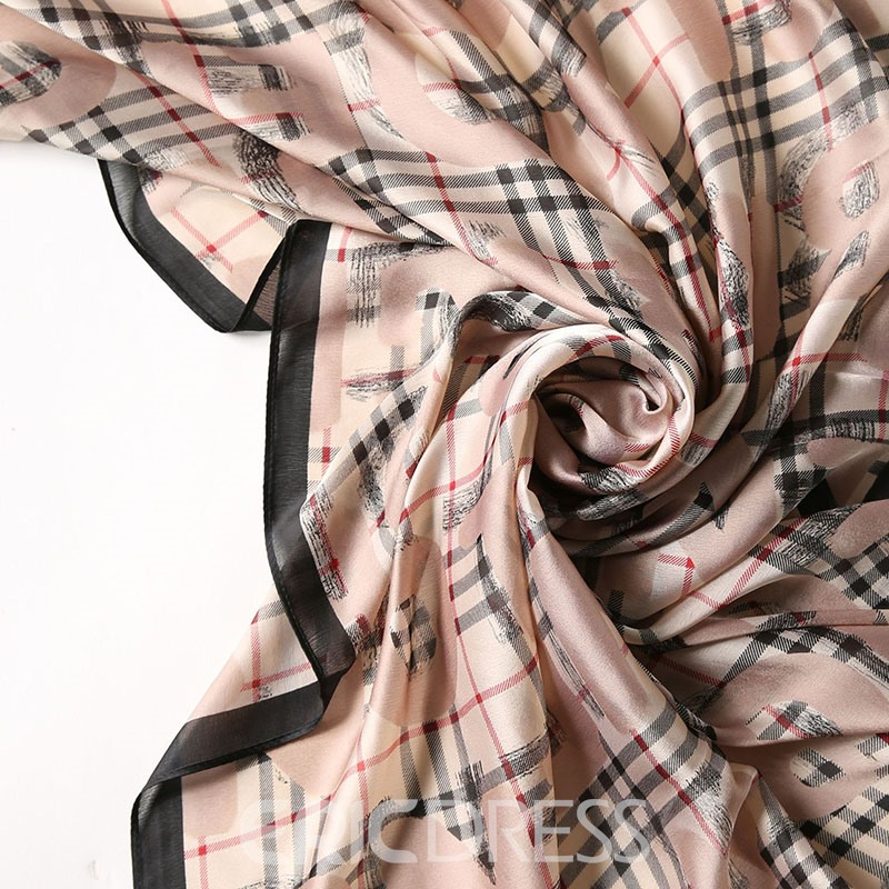 Ericdress Polyester Grid Print Plaid Scarf