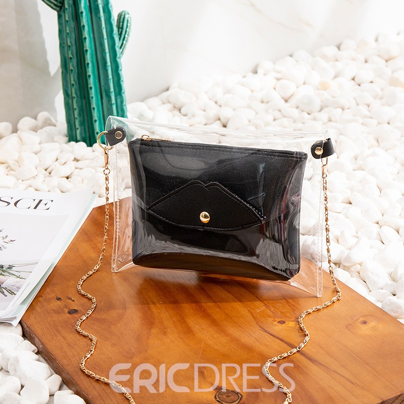 Ericdress Magnetic Snap PU Plain Crossbody Bag