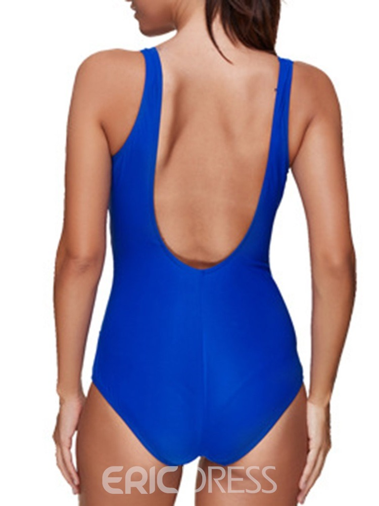 Ericdress One Piece Patchwork Sexy Swimwear