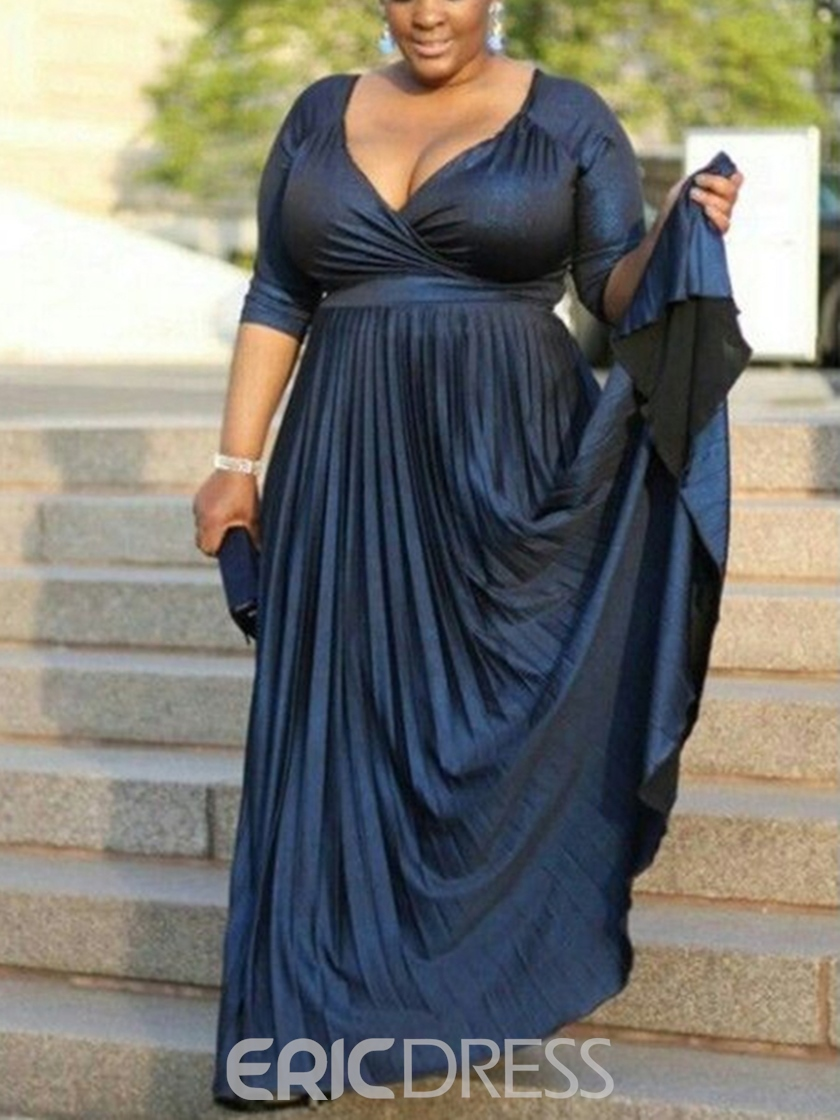 Ericdress Half Sleeves Plus Size Mother of the Bride Dress