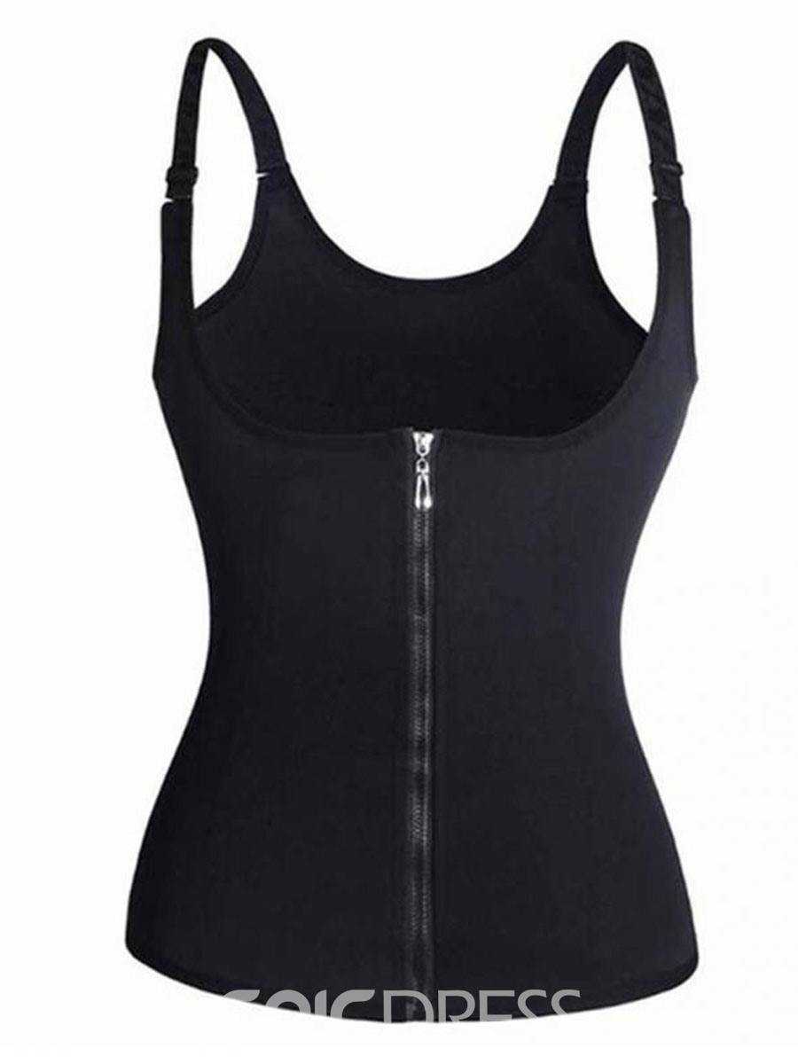 Ericdress Sauna Tank Top Zipper Top Waist Trainer Corsets
