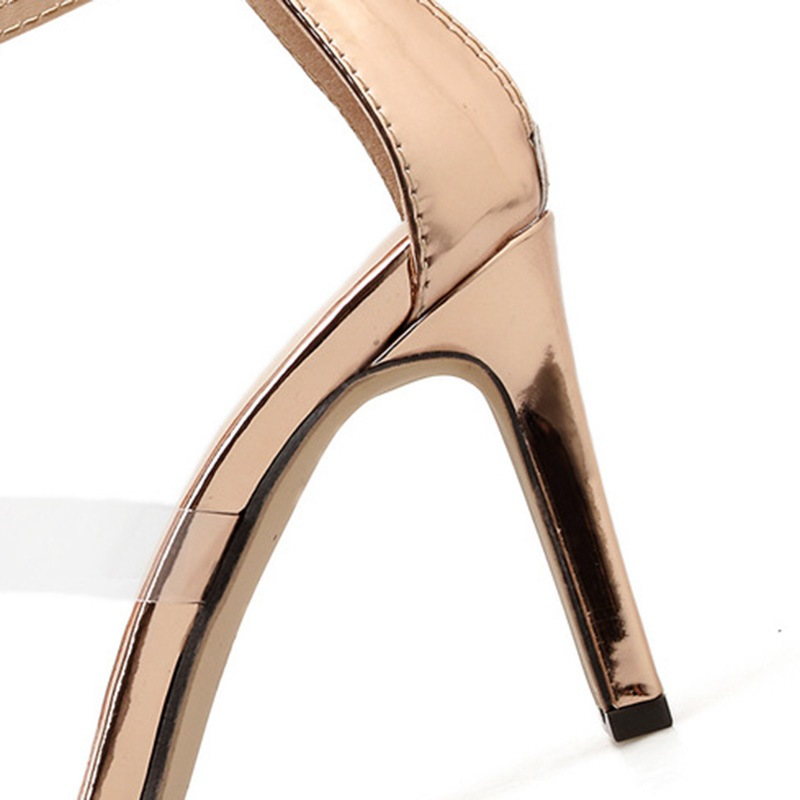 Ericdress PU Zipper Chunky Heel Women's Sandals