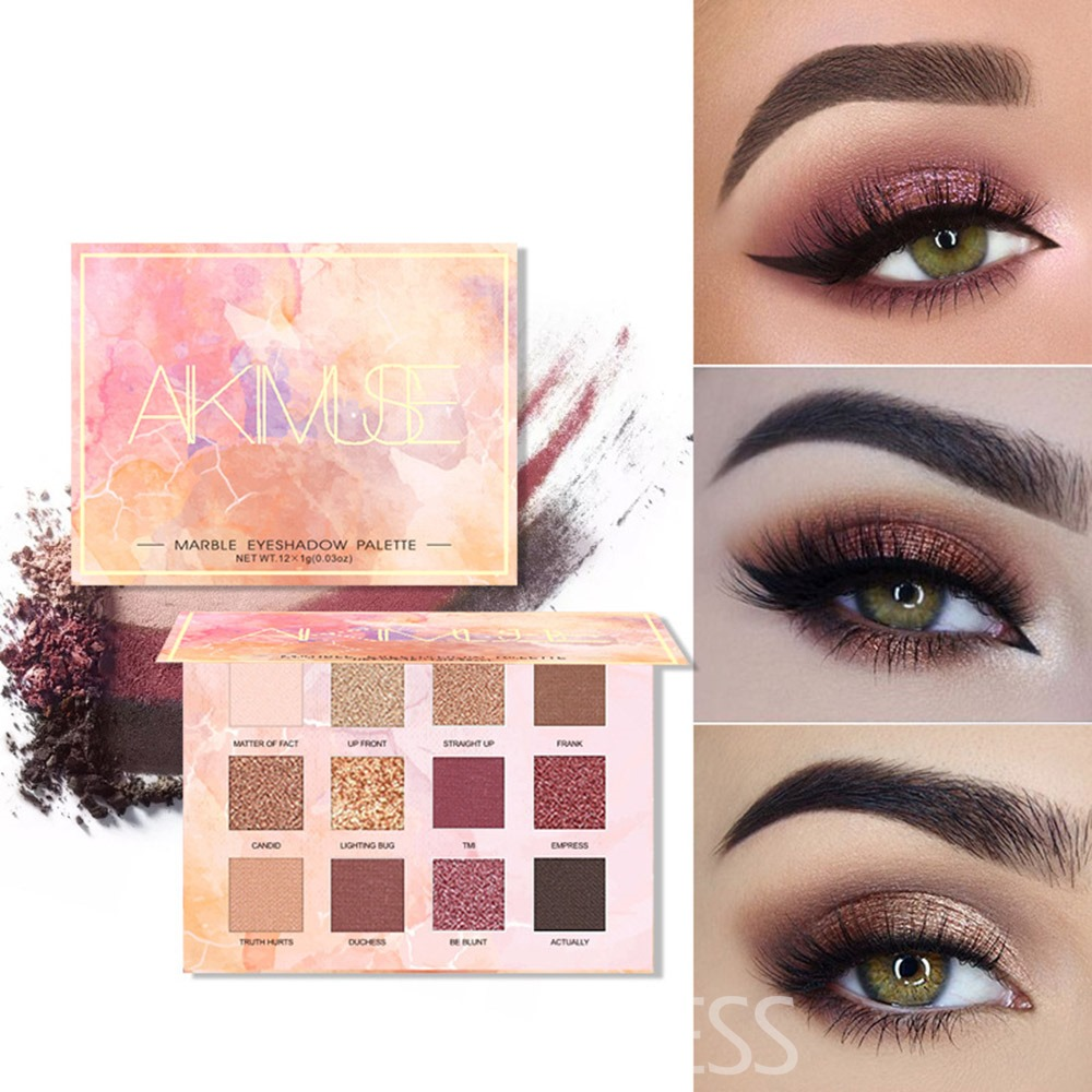Ericdress Marble Flame Mousse 12 Colour Eyeshadow