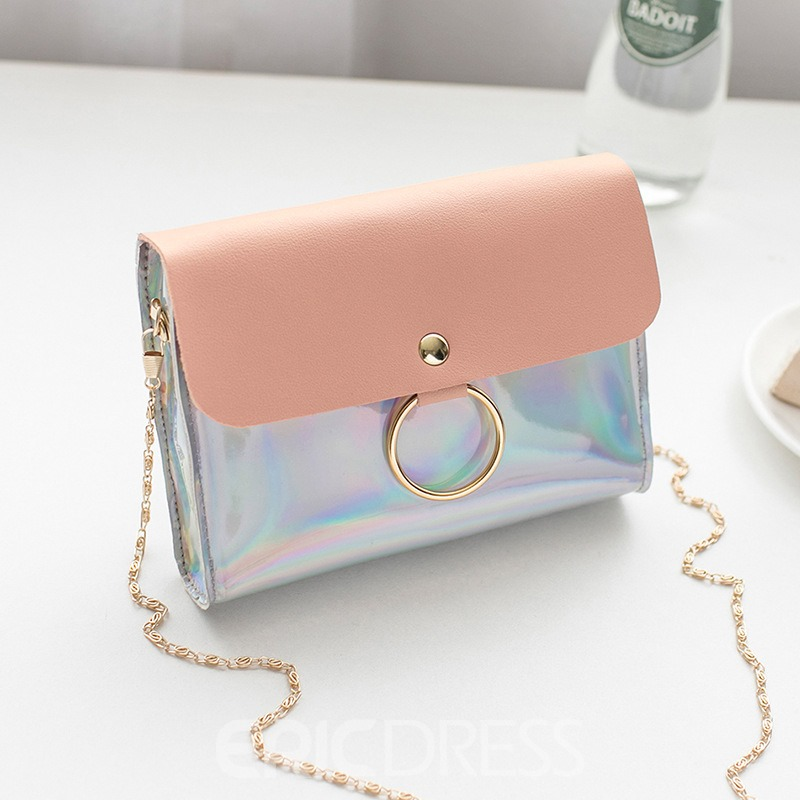 Ericdress Color Block PU Flap Crossbody Bags
