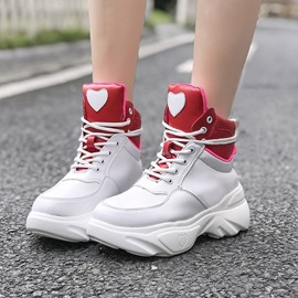 Ericdress PU Lace-Up Color Block Sneakers For Women
