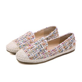 Ericdress Plaid Slip-On Woven Women's Flats