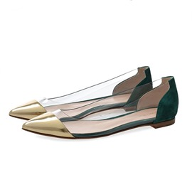 Ericdress Sequin Patchwork Pointed Toe Slip-On Women's Flats